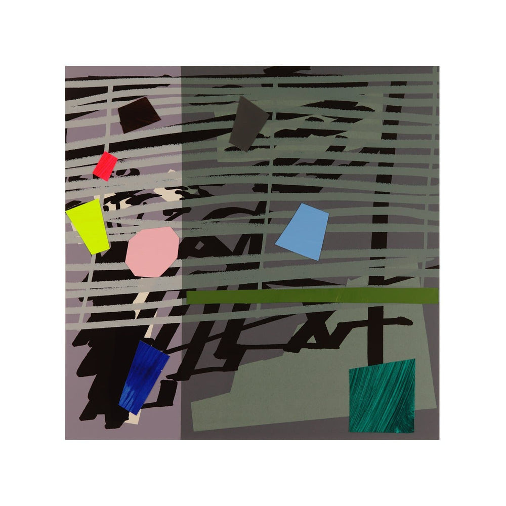 Green Grey Violet Shadow artwork by Bruce Mclean
