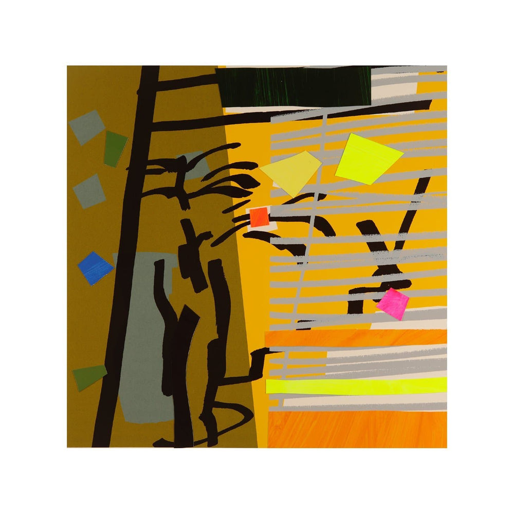 Tree Fern and Shadow Yellow artwork by Bruce Mclean