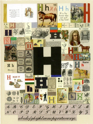 Alphabet : The letter H artwork by Peter Blake