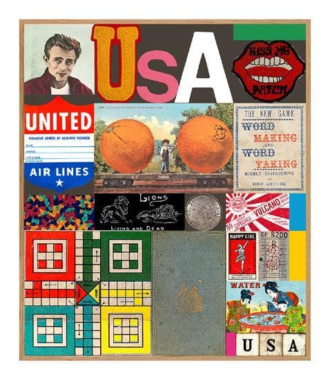 USA Series James Dean artwork by Peter Blake