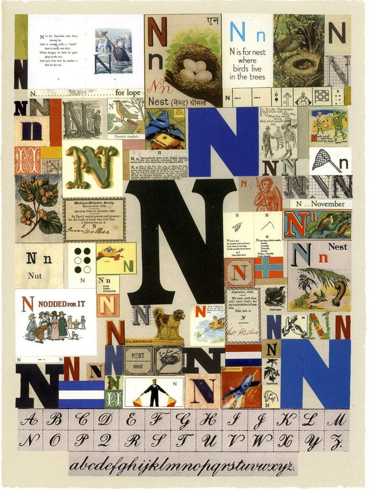 Alphabet : The Letter N artwork by Peter Blake