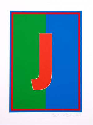 Dazzle Alphabet, J artwork by Peter Blake