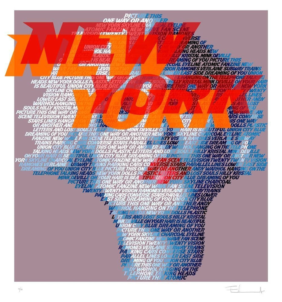 Debbie Harry New York artwork by Mike Edwards