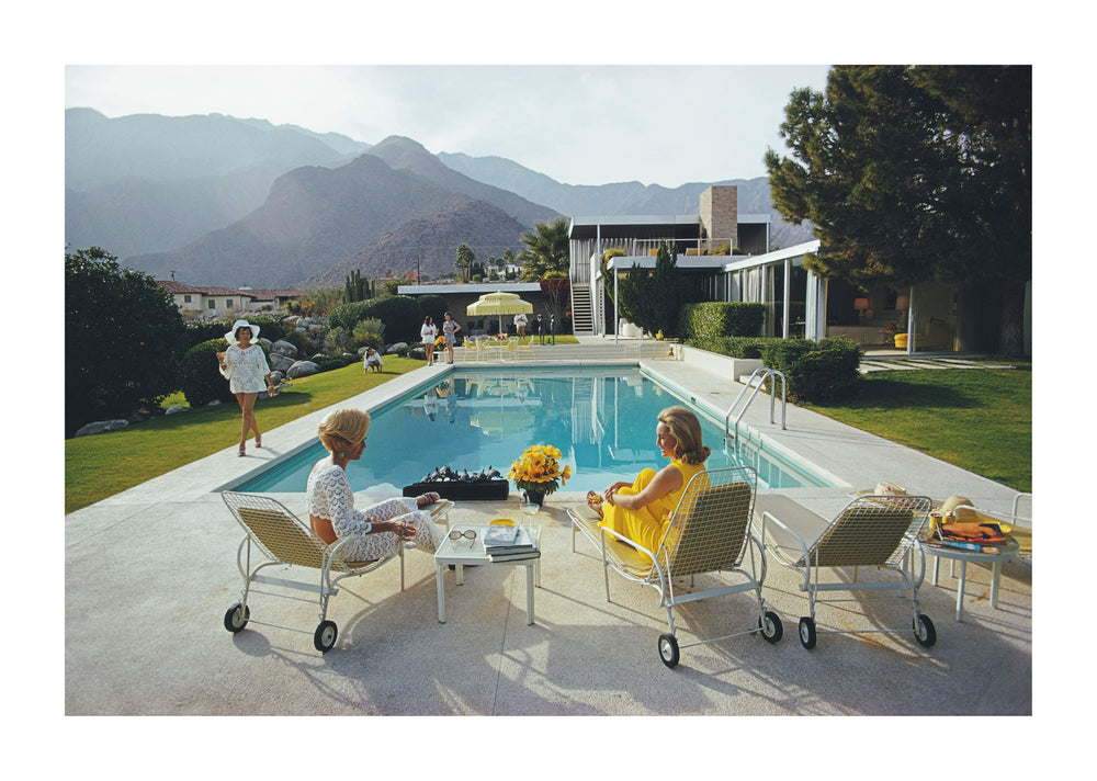 Poolside Gossip, C-Type Print artwork by Slim Aarons