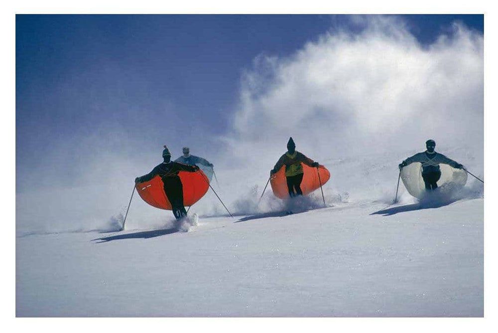 Caped Skiers artwork by Slim Aarons