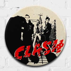The Clash Debut Album Giant 3D Vintage Pin Badge by Tape Deck Art | Enter Gallery