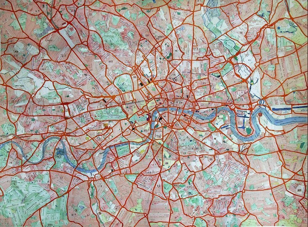Travel Card Map artwork by Vicky Steane