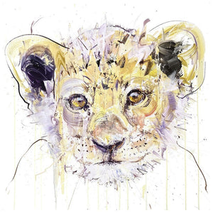 Lion Cub artwork by Dave White