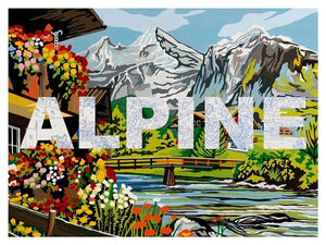 Alpine artwork by Benjamin Thomas Taylor