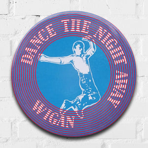 Dance the Night Away (Wigan Casino) Northern Soul GIANT 3D Vintage Pin Badge by Tape Deck Art | Enter Gallery