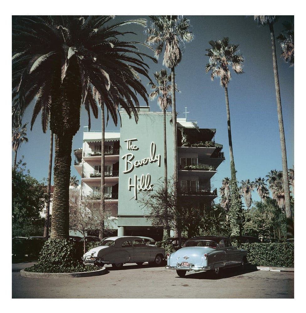 Beverly Hills Hotel, C-Type Print artwork by Slim Aarons