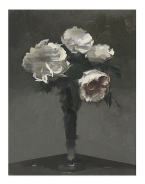 WHITE ROSES AFTER FANTIN-LATOUR, artwork by Chris Kettle