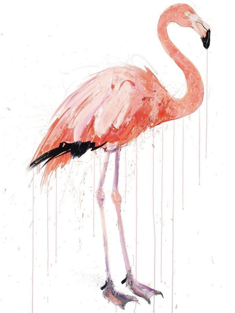 Flamingo II, Diamond Dust artwork by Dave White