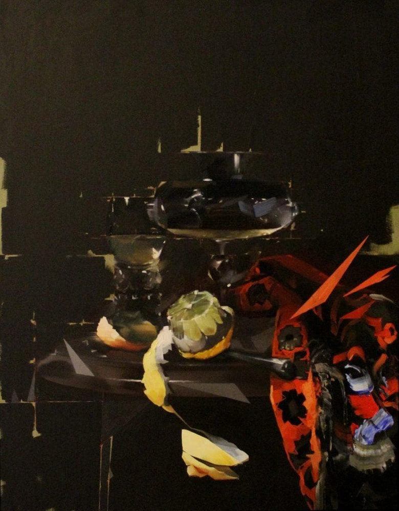 Peeled Lemon With Glass - After Willem Kalf artwork by Chris Kettle