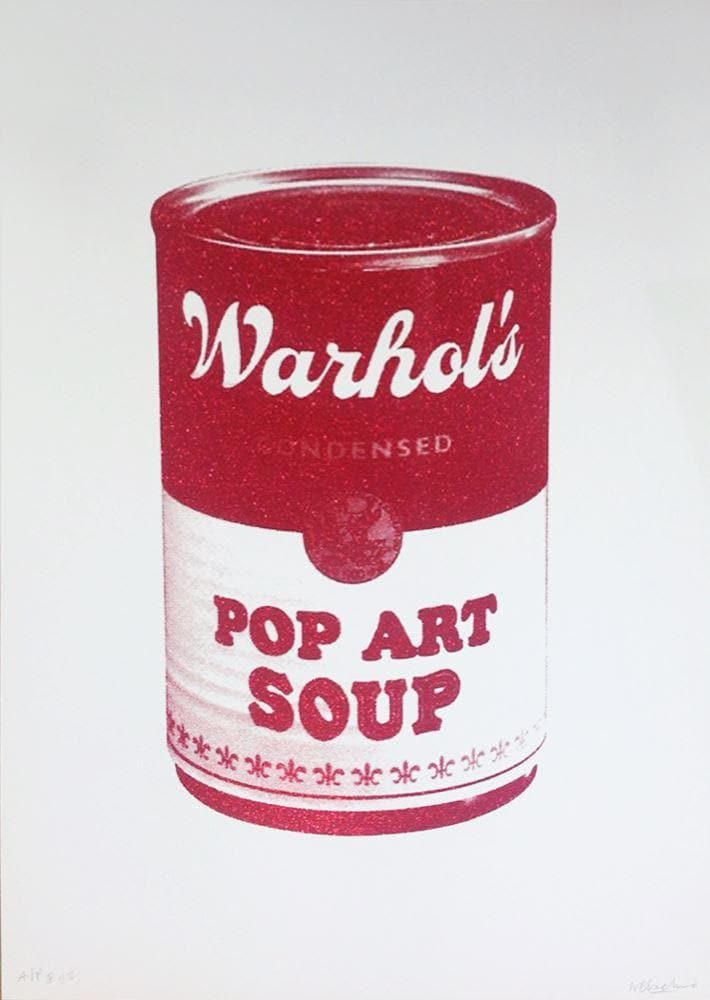 Pop Art Soup - Red Glitter artwork by William Blanchard