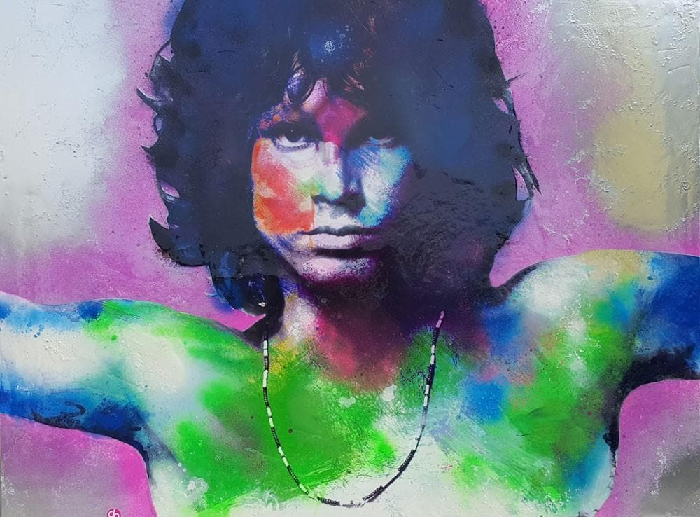 Jim Morrison Lizard King artwork by Dan Pearce