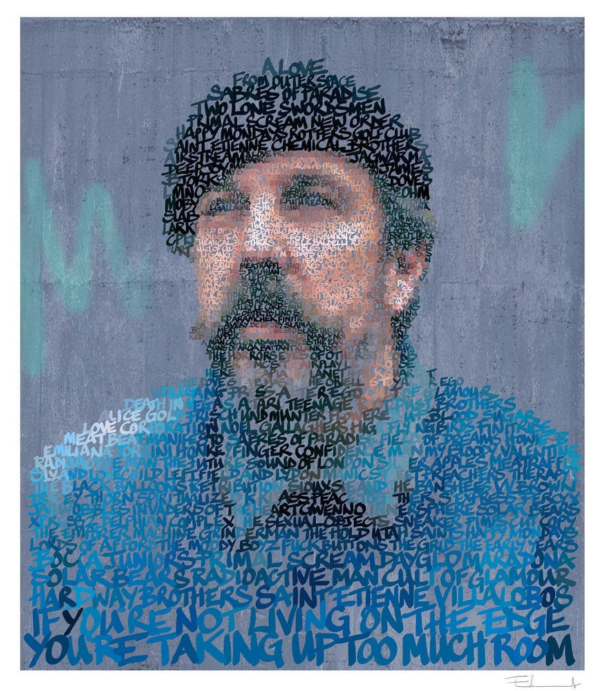 Andrew Weatherall artwork by Mike Edwards