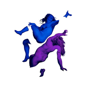 Happy Nations Have No History artwork by Magnus Gjoen Purple/Blue