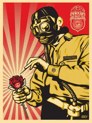 Toxicity Inspector artwork by Obey (Shepard Fairey)