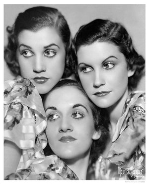 Andrews Sisters Portrait Session artwork by Michael Ochs
