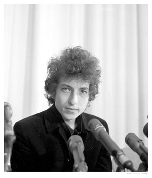 Dylan At A Press Conference In Los Angeles artwork by Michael Ochs