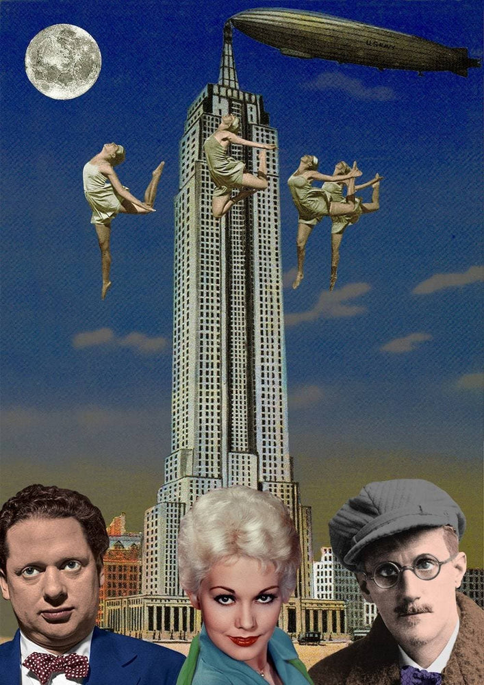 Dylan Thomas, Kim Novak and James Joyce in New York, 2013 artwork by Peter Blake