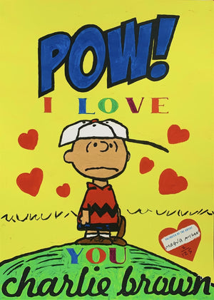 Pow! I Love You Charlie Brown by Magda Archer | Enter Gallery