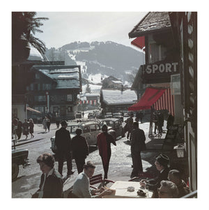 Gstaad Town Centre photographic art print by Slim Aarons | Enter Gallery