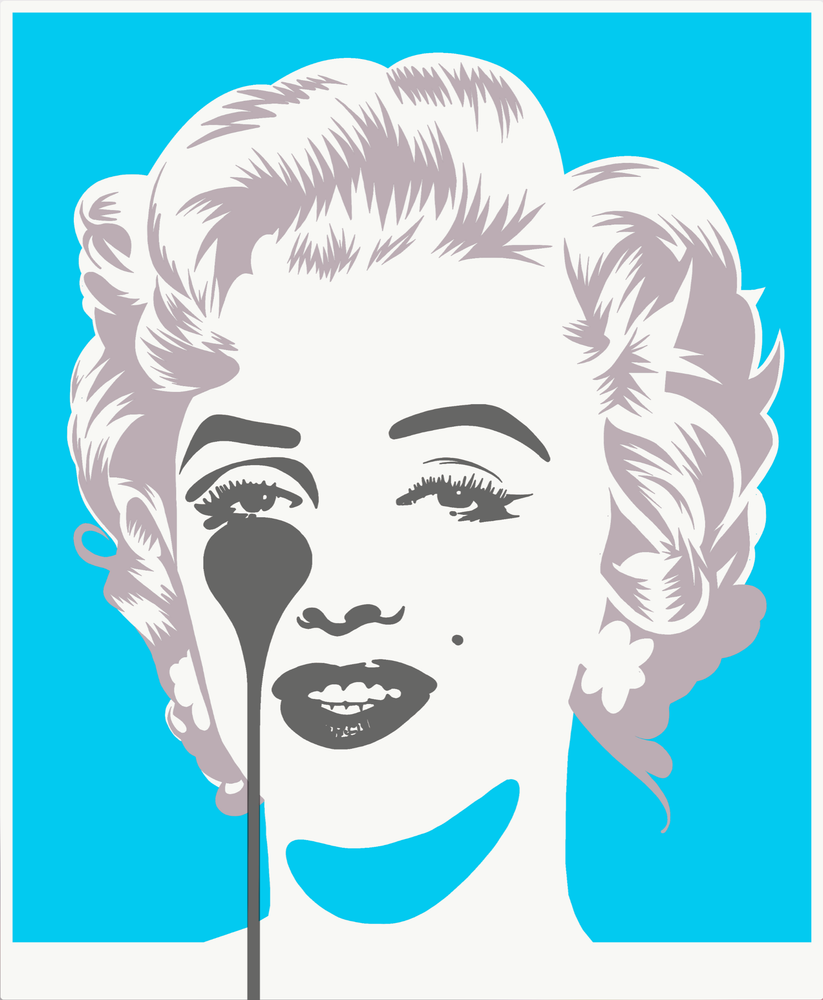 Marilyn Classic, Blue And Silver