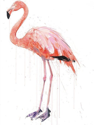 Flamingo I, Diamond Dust artwork by Dave White