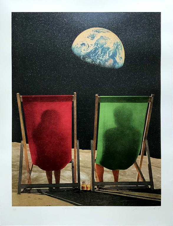 Wish You Were Here, Red & Green, Glitter by Joe Webb | Enter Gallery