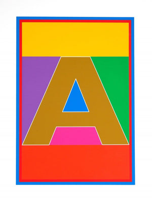 Dazzle Alphabet - A artwork by Peter Blake
