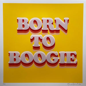 Born to Boogie artwork by Oli Fowler