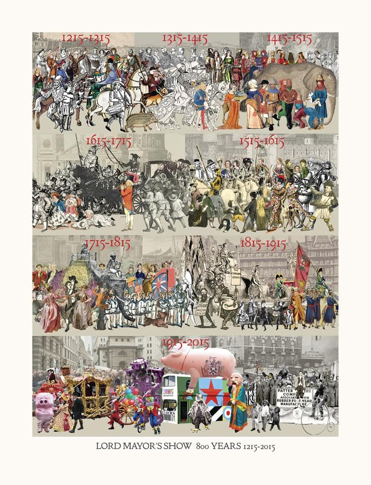Lord Mayor's Show 800 Years 1215-2015 artwork by Peter Blake