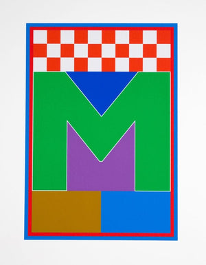 Dazzle Alphabet M artwork by Peter Blake