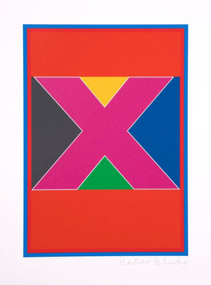 Dazzle Alphabet X artwork by Peter Blake