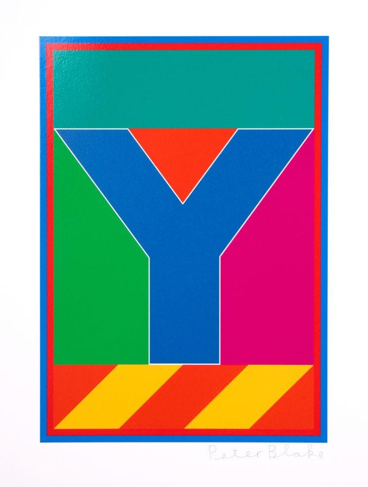Dazzle Alphabet Y artwork by Peter Blake