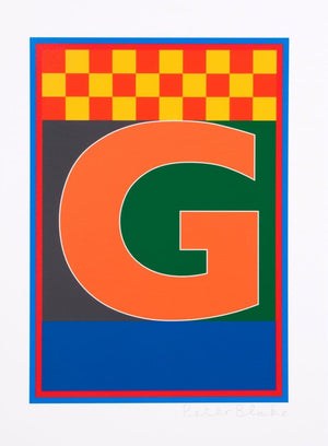 Dazzle Alphabet - G artwork by Peter Blake