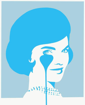 Smiling Jackie JFK's Nightmare Soft Blue artwork by Pure Evil