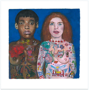 Tattooed Ladies artwork by Peter Blake
