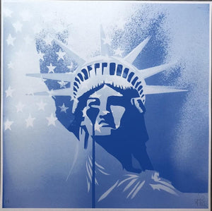 Amerika - Blue artwork by Pure Evil