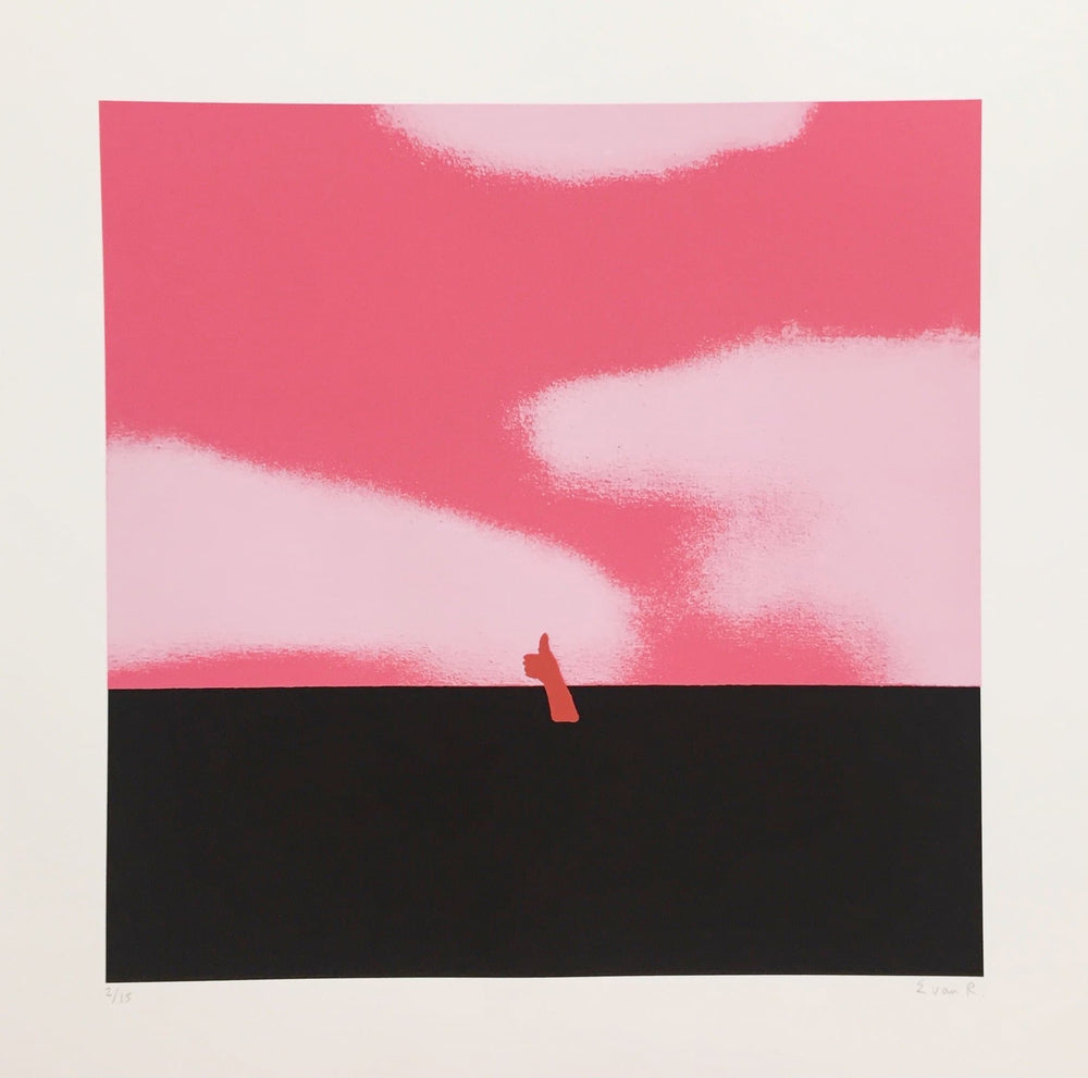 Not Too Bad - Pink art print by Euan Roberts | Enter Gallery