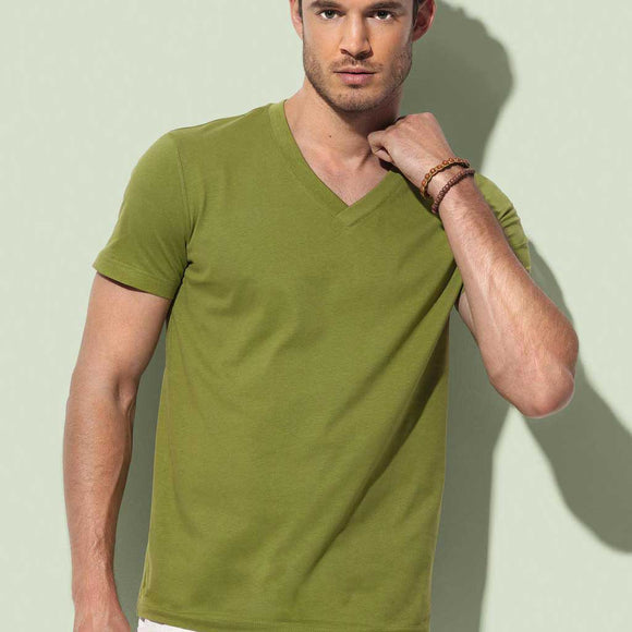 T-Shirt uomo con scollo a V James - T-Shirt - Stedman - AnimalStories.shop