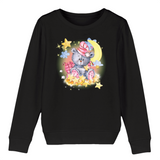 Felpa Kid Organic - Bear moon - Child Sweat-shirt Mini Changer - Stanley/Stella - DTG - T-Pop - AnimalStories.shop