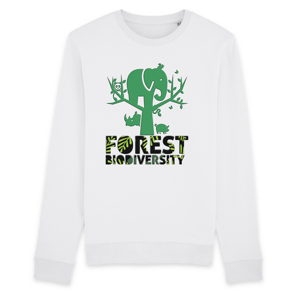 Felpa unisex Organic - Forest biodiversity - Sweat-shirt - Rise - Stanley - DTG - T-Pop - AnimalStories.shop
