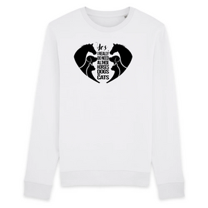 Felpa unisex Organic - Horses Cats Dogs Love - Sweat-shirt - Rise - Stanley - DTG - T-Pop - AnimalStories.shop