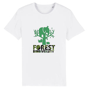 T-Shirt unisex Organic - Forest biodiversity - AnimalStories.shop