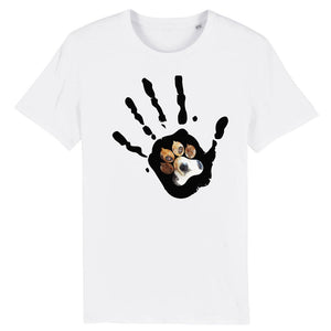 T-Shirt unisex Organic - Give me five Dog - AnimalStories.shop