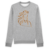 Felpa unisex Organic - My horse is my partner - Sweat-shirt - Rise - Stanley - DTG - T-Pop - AnimalStories.shop