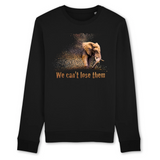 Felpa unisex Organic - Elephant - Sweat-shirt - Rise - Stanley - DTG - T-Pop - AnimalStories.shop